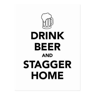 Dricka öl och vackla hem vykort
