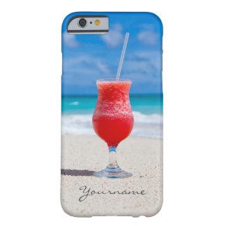 Drink på för monogramtelefon för strand barely there iPhone 6 skal