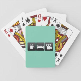 Drink-, sömn- och filmkameror spelkort