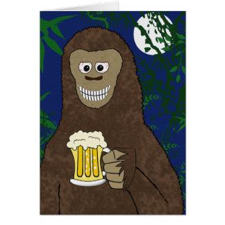 Drinkin Bigfoot Hälsningskort