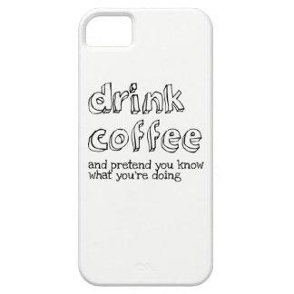 Drinkkaffe och inbillat vet du vad du är doin iPhone 5 Case-Mate cases