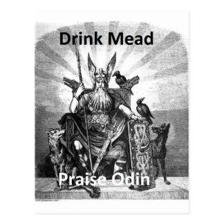 DrinkMead - beröm Odin Vykort