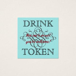 Drinktecken Fyrkantigt Visitkort