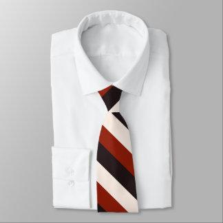 Driva den tillfälliga röda svart vitranden slips