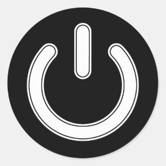 Driva (det svartvita) symbolet, runt klistermärke