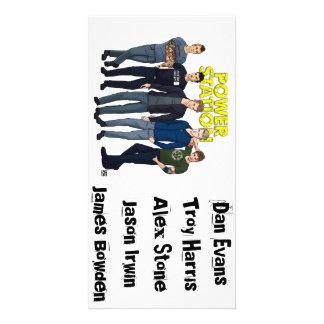 Driva kortet för stationmedlemfotoet fotokort mall