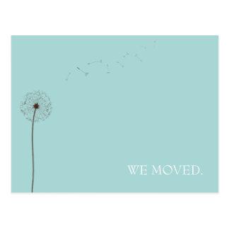 driva:  röra meddelande vykort
