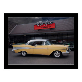 Drive-in- affisch 1957 för Chevy Bel Air klassiker