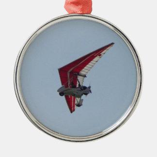 Driven hängningglidflygplan julgransprydnad metall