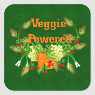 Driven Veggie Fyrkantigt Klistermärke