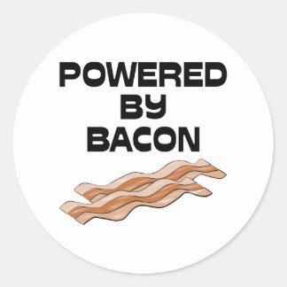 Drivit av bacon runda klistermärken