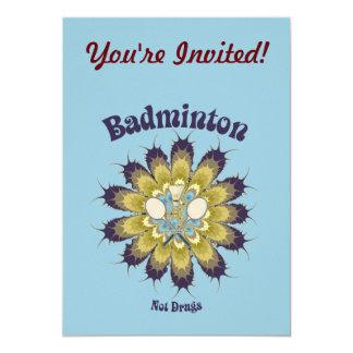 Drogblomma för Badminton inte 12,7 X 17,8 Cm Inbjudningskort