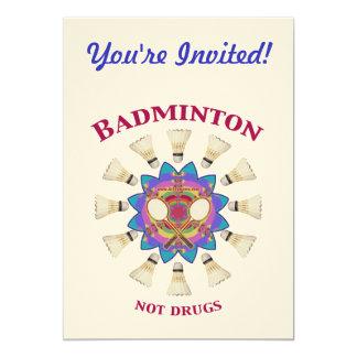 Droger för Badminton inte 12,7 X 17,8 Cm Inbjudningskort