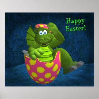 Drolly drakar: Glad påsk Poster