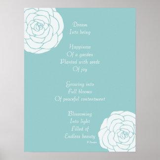 Dröm- dikt med vit ros