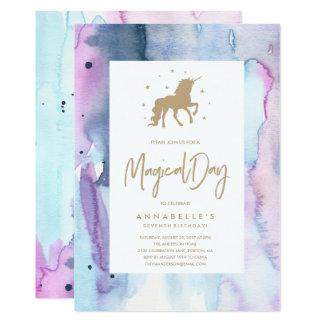 Dröm- födelsedaginbjudan för Unicorn 12,7 X 17,8 Cm Inbjudningskort