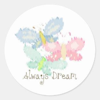 Dröm för vårfjärilar alltid runt klistermärke