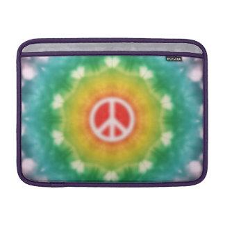 Dröm- fredsteckenregnbåge för Hippie MacBook Sleeve