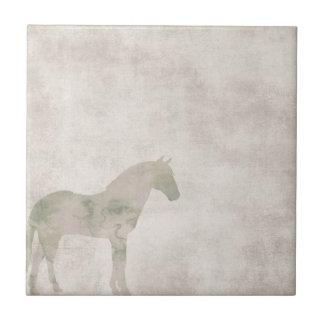 Dröm- häst: Vattenfärghästen dammar av på brunt Kakelplatta