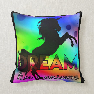 Dröm- något liknande en Unicorn! - Ljus färgrik Kudde