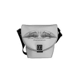 Dröm- overklig - vitängelvingar - mini- budbärare kurir väska