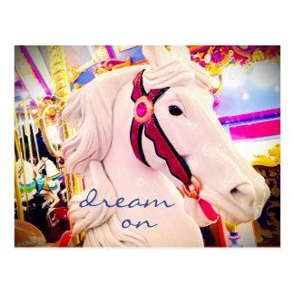 """""""Dröm på"""" fotoet för häst för Vykort"""