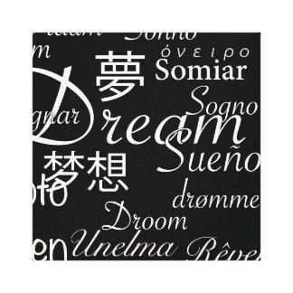 Dröm- språk canvastryck