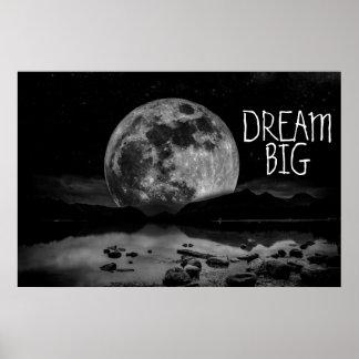 Dröm- stor måne affischer