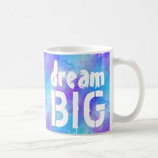 Dröm- stora inspireras blåttvattenfärgstjärnor kaffemugg