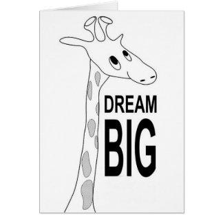 Dröm- stort giraffstudenten- & inspirationkort hälsningskort