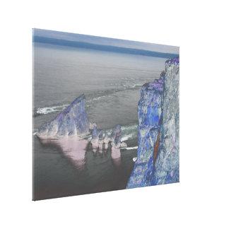 Dröm udd på udd kluvna Nova Scotia Canvastryck