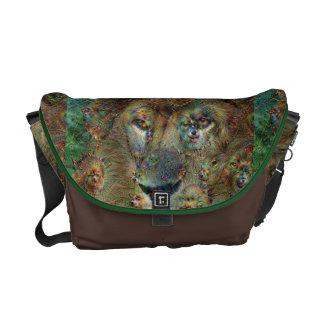 Dröm- varelser som är lejona, DeepDream Kurir Väskor