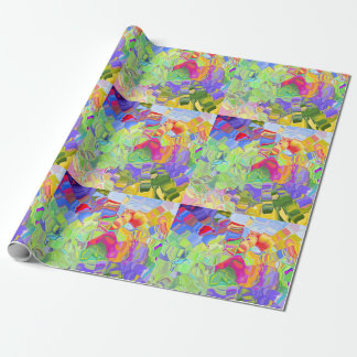 Drömlik färgrik abstrakt presentpapper