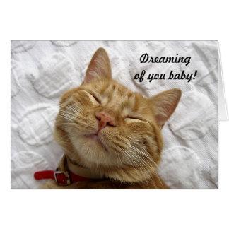 Drömma av dig baby hälsningskort