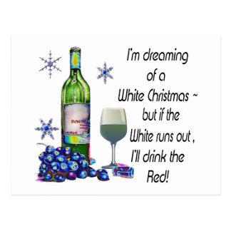 Drömma av vitjul, roliga vinkonstgåvor vykort