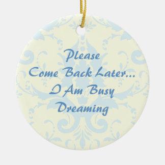 Drömma dörrhängaren julgransprydnad keramik