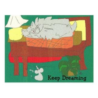 Drömma för behålla vykort