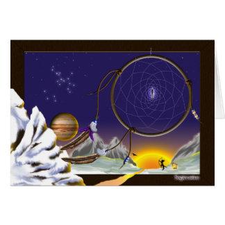 Drömma för Sagittarius Hälsningskort