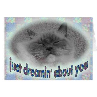 Drömma om dig! hälsningskort