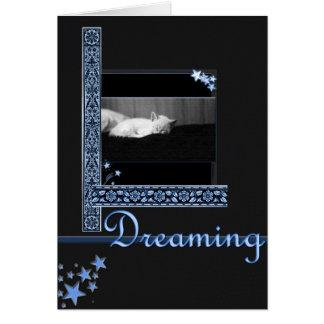 Drömma (starry natt) hälsningskort