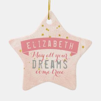 Drömmar för sötsak för balettrosababy julgransprydnad keramik