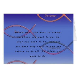 Drömmar Hälsningskort