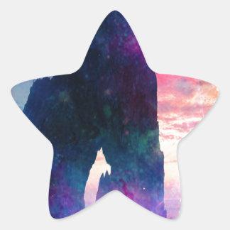 Drömmare Cove Stjärnformat Klistermärke