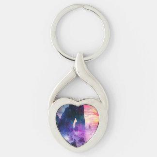 Drömmare Cove Twisted Heart Silverfärgad Nyckelring