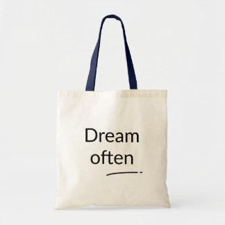 Drömmen hänger lös ofta tygkasse