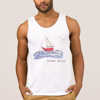 Drömmen seglar den levande havsfartygfiskmåsen tanktop