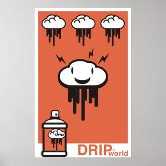 Droppandevärldsorange Print