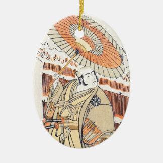 droppen för skådespelare Nakamura Katsugorô (eller Julgransprydnad Keramik