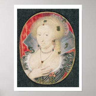 Drottning Anne av Danmark, miniatyr Poster
