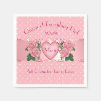 Drottning av allt rosa mamma servett
